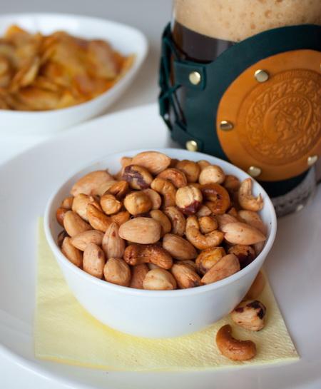Остро-соленая ореховая смесь