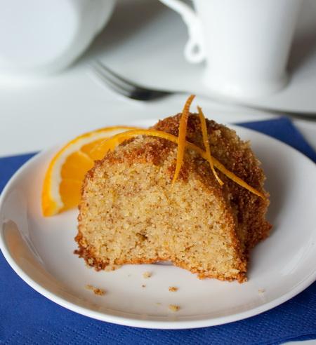 Апельсиновый пирог на кукурузной муке