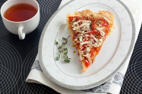 Рецепт - Тарт с помидорами черри