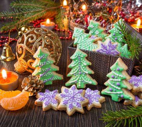 Рецепт на Новый год: Сахарное печенье с глазурью (видео)