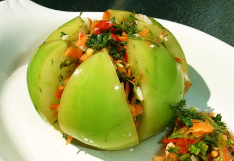 Рецепт - Маринованные зеленые помидоры
