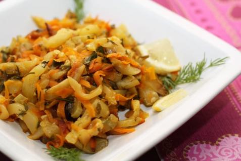 Рецепт - Тушеные кабачки
