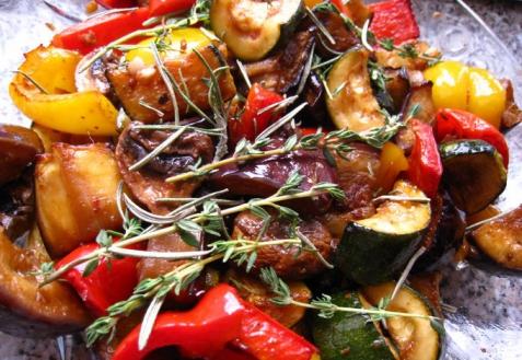 Овощи-гриль в пряном маринаде