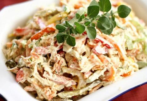 Салат с куриным мясом фото