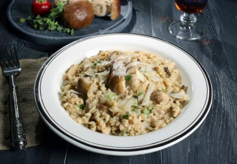 Рис с грибами и орехами