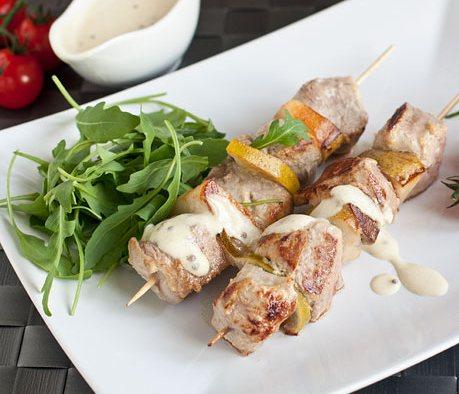 Рецепт - Свиной шашлык с грушами