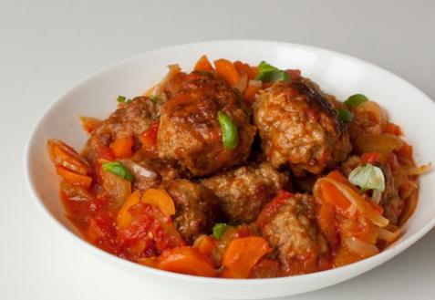 Рецепт - Фрикадельки в томатном соусе