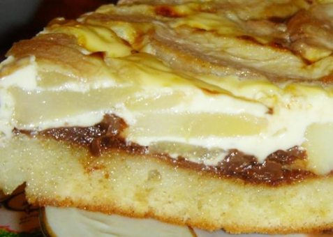 Грушевый пирог с шоколадом - рецепт