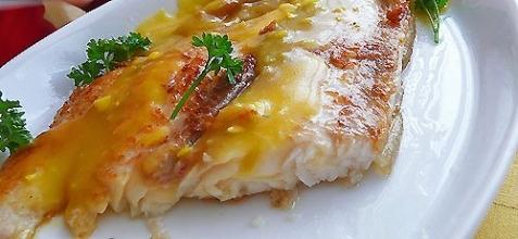 Рецепт - Рыба под апельсиновым соусом