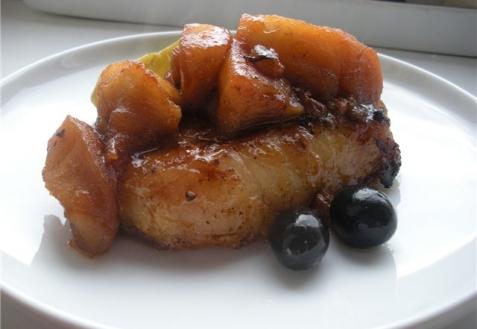 Свиная корейка, маринованная в яблочном соке