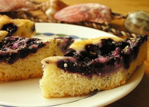 Пирог с черникой - рецепт