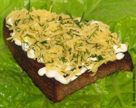 Гренки с сыром и чесноком - рецепт