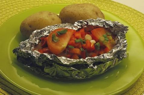 Лосось с овощами - рецепт