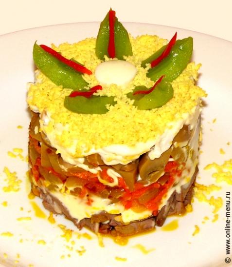 Салат из сердца говяжьего/телячьего - рецепт