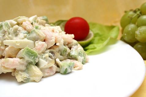 Салат «Авокадо и креветки»