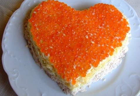 Рецепт - Салат «Сердце»