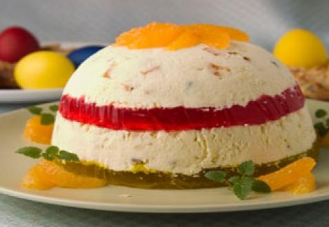 Рецепт - Пасха с фруктовым желе