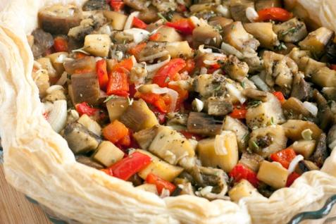Рецепт - Быстрый тарт с баклажанами