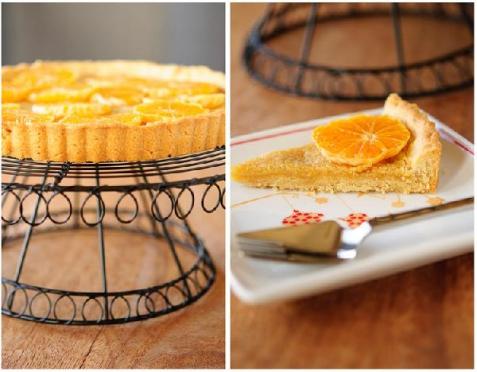 Рецепт - Открытый пирог с клементинами, имбирем и франджипани