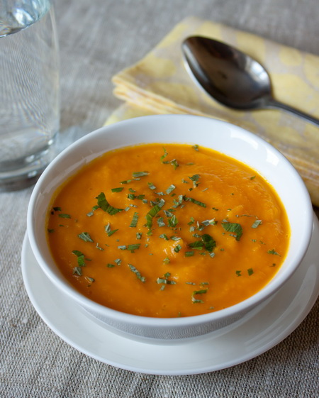 Холодный морковный суп-пюре