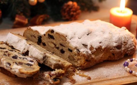 Рецепт - Рождественский штоллен с изюмом и миндалем