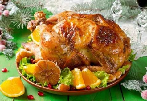 Фаршированная курица с апельсинами (видео)