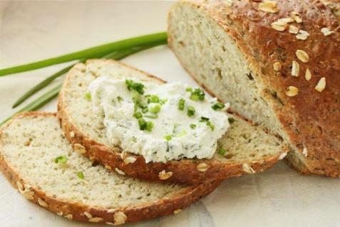 Рецепт - Хлеб из овсяных хлопьев с зеленью