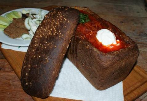 Рецепт - Борщ в хлебе
