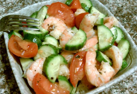 салат из креветки рецепт с фото