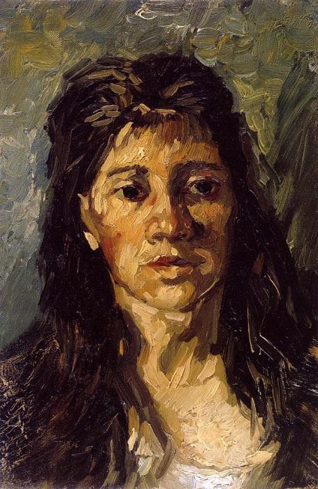 «Портрет женщины с распущенными волосами». (1885 г) Музей Винсента Ван Гога. Амстердам. Нидерланды.