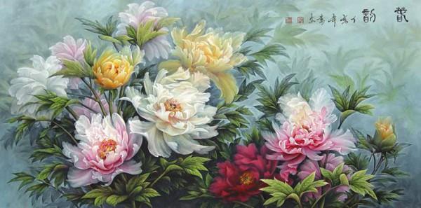 цветы художник Wan An - 04
