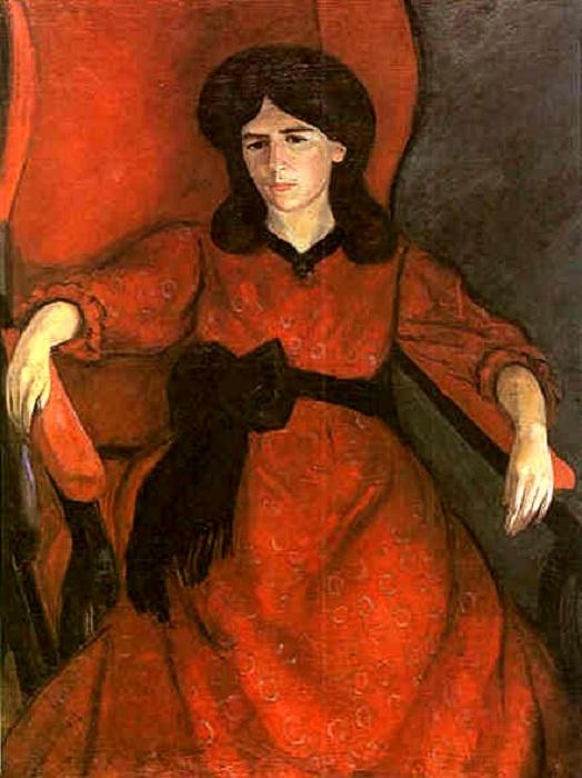 «Лиза в кресле. Портрет жены художника». (1910 г.). Автор: Роберт Рафаилович Фальк.