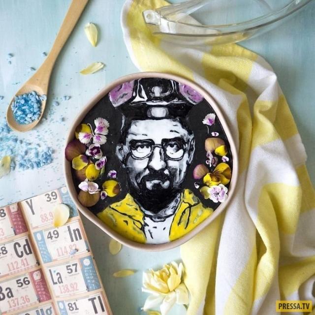 Фото: Художница создает удивительные рисунки на коктейлях (Фото)