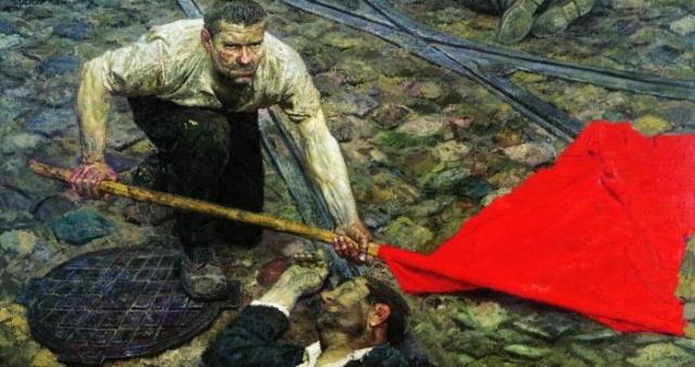 Поднимающий знамя, 1957–1960 гг. Автор: Гелий Коржев.