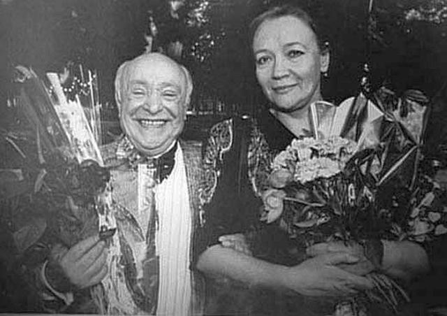 Ролан Быков и Елена Санаева. / Фото: www.stuki-druki.com