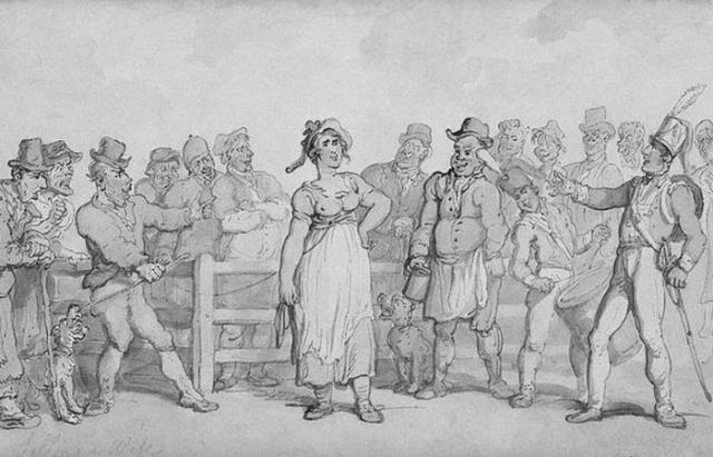 Невозможно поверить: в Англии во время промышленной революции продавали жен.