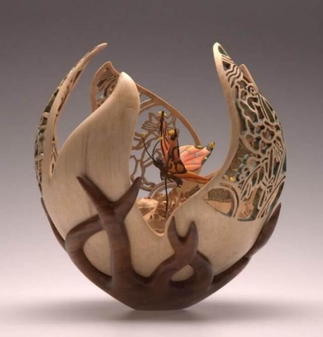 Ажурная резьба по дереву от волшебницы из Англии Джои Ричардсон — всемирно известный токарь и ... - 3