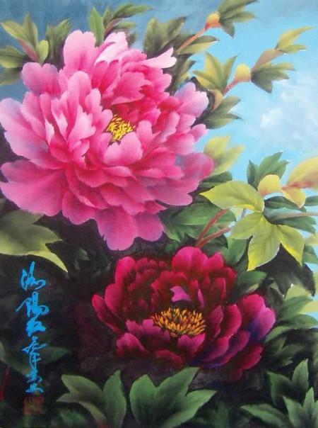 цветы художник Wan An - 09