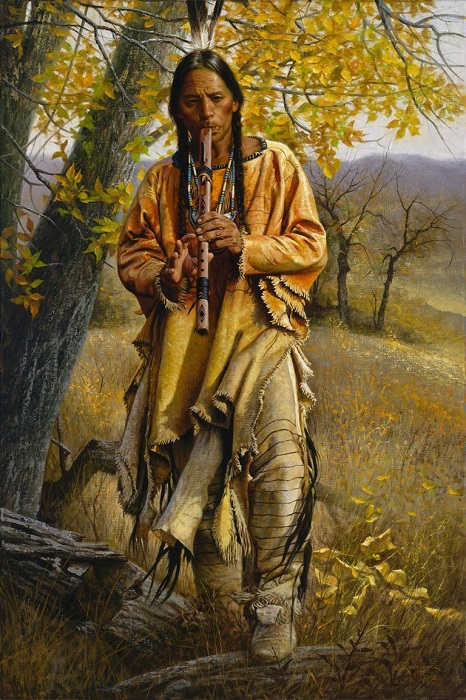 Флейта была важным инструментом для индейцев.
