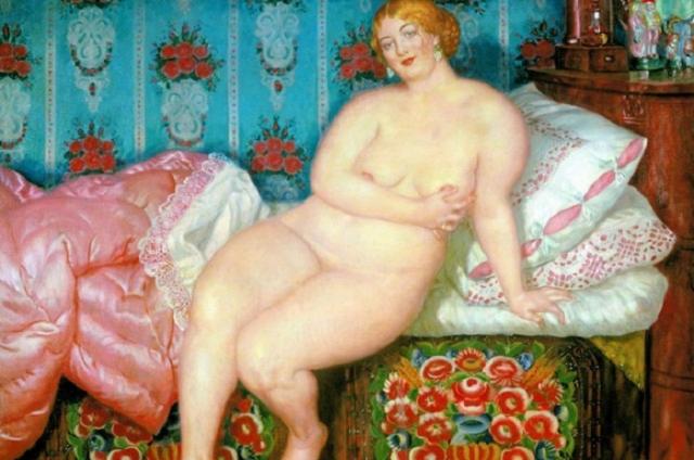 «Красавица». (1915 год). Автор: Борис Кустодиев.