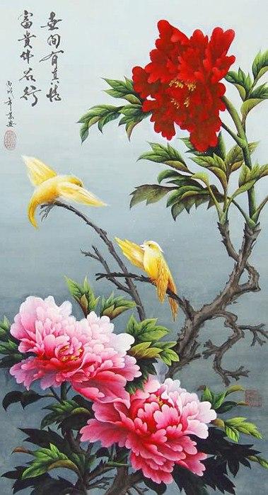 цветы художник Wan An - 11