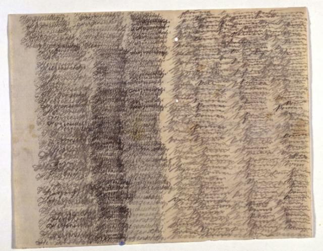 Письмо душевнобольной Эммы Хаук. 1909 год.   Фото: commons.wikimedia.org.