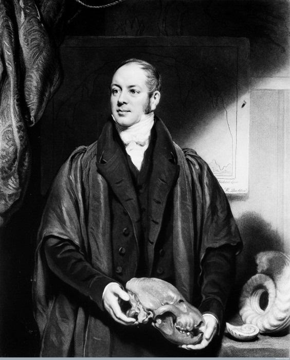 Уильям Баклэнд с черепом гиены