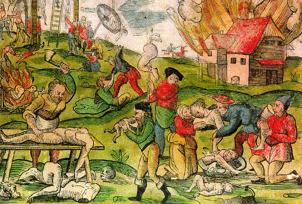 Каннибализм в Литве после вторжения Ивана Грозного во время Ливонской войны