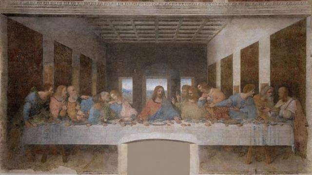 Знаменитая «Тайная вечеря» Леонардо да Винчи.   Фото: commons.wikimedia.org.