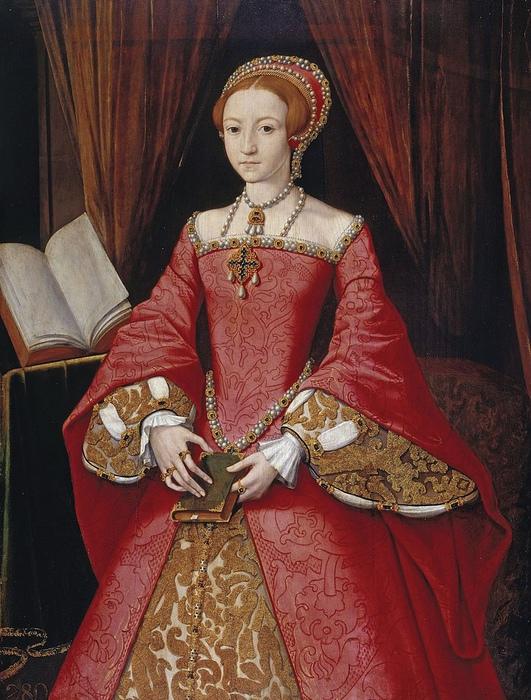 Кристина восхищалась Елизаветой Английской. Портрет Елизаветы в тринадцать лет.