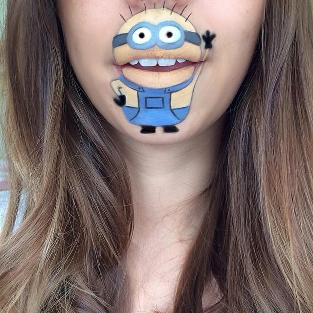 Когда губная помада надоела, есть способ забавно красить губы фото