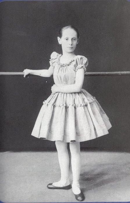 Анна Павлова - ученица балетной школы