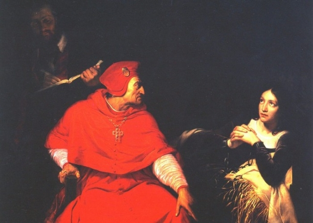 Жанна д'Арк в тюрьме на допросе кардиналом Винчестером./ Фото: regnum.ru