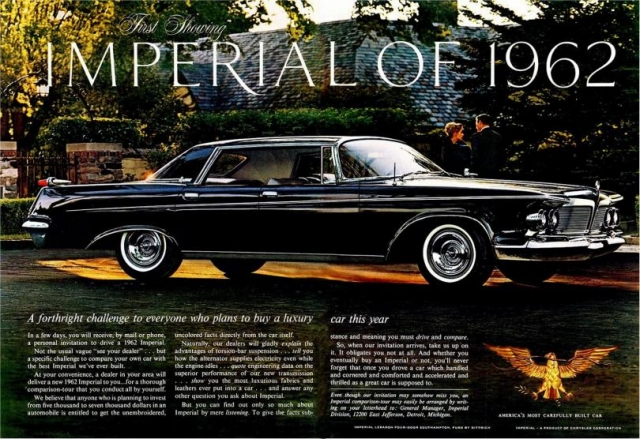 Imperial 1962 года.